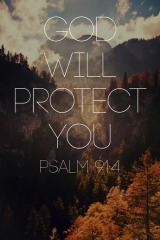 protection God Psalm 91-4