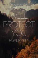 protection God Psalm 91-4